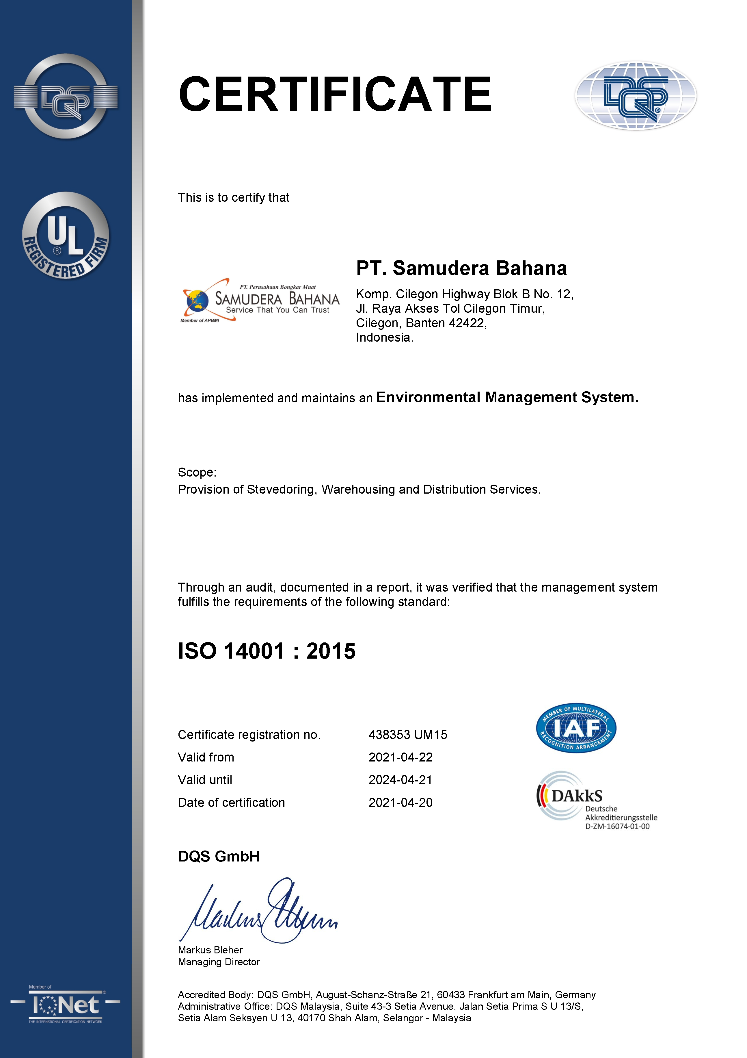 ISO 1400:2015